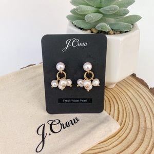 J. Crew Fresh Water Pearl Cluster Earrings AU171